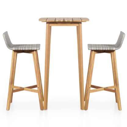 Bistro baldų kompl., 3d., akacijos medienos masyvas