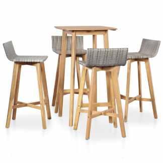 vidaXL Lauko valg. baldų komplektas, 5d., akacijos medienos masyvas