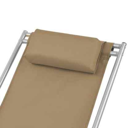 Atlošiami gultai, 2 vnt., plienas, smėlio spalva