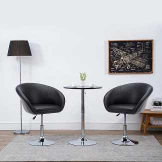vidaXL Besisukanti valgomojo kėdė, dirbtinė oda, 67,5×58,5x87cm, juoda