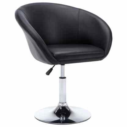 Besisuk. valg. kėdės, 2vnt., dirbt. oda, 67,5×58,5x87cm, juod.