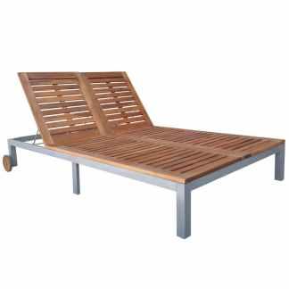 vidaXL Dvigulis saulės gultas, akacijos mediena