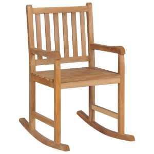 vidaXL Supama kėdė, ruda, 58×92,5x106cm, tikmedžio med. mas.