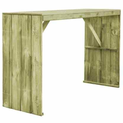 vidaXL Baro stalas, 170x60x110cm, FSC impregnuota pušies mediena