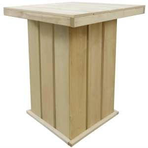 vidaXL Lauko baro stalas, 75x75x110cm, FSC impregnuota pušies mediena