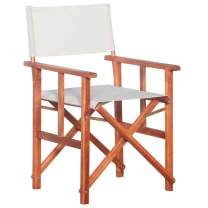 vidaXL Režisieriaus kėdė, akacijos medienos masyvas