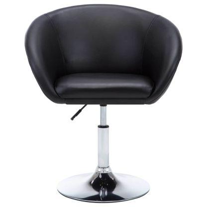 Besisuk. valg. kėdės, 4vnt., dirbt. oda, 67,5×58,5x87cm, juod.