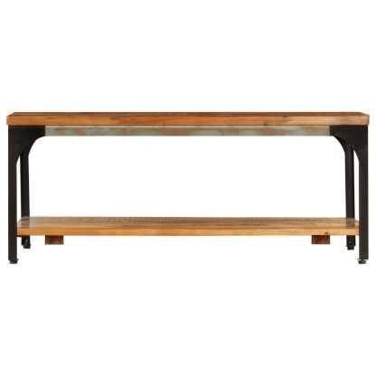 Kavos stal. su lentyna, 100x60x35cm, perdirbtos medienos masyv.