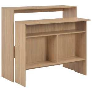 vidaXL Baro stalas su 2 stalviršiais, ąžuolo sp., 130x40x120cm