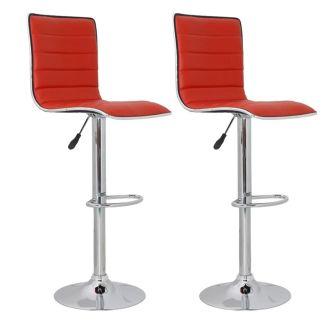 vidaXL Baro kėdės, 2 vnt., raudonos, 41×47,5×95-116 cm