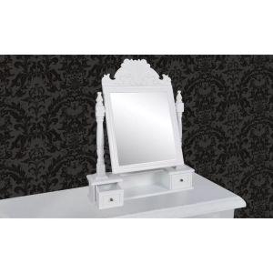 Kosmetinis staliukas su stač. formos besisuk. veidrodžiu, MDF