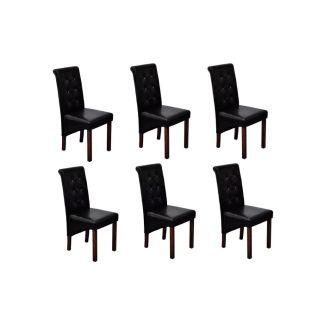 Valgomojo kėdės, 6vnt., juodos