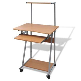 Kompiuterio Stalas su Ištraukiamu Padėklu Klaviatūrai, Rudas