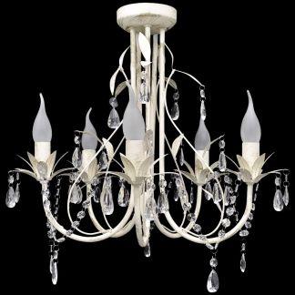 Elegantiškas Lubų Šviestuvas, Sietynas, 5 Lempučių