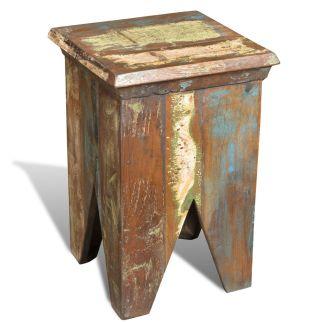 vidaXL Kėdutė, perdirbta mediena, senovinio stiliaus