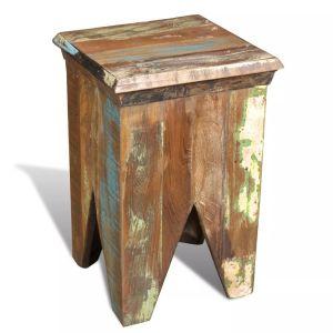 Kėdutė, perdirbta mediena, senovinio stiliaus