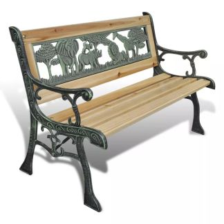 vidaXL Vaikiškas sodo suoliukas, 80 cm, mediena