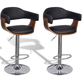vidaXL Baro kėdės, 2 vnt., dirbtinė oda, reguliuojamas aukštis