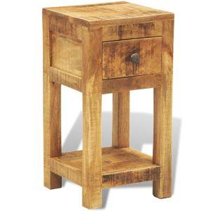 Naktinis staliukas su 1 stalčiumi, masyvi mango mediena