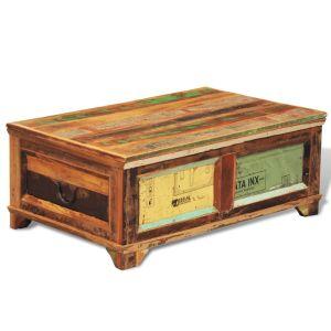 Kavos stal. su vieta daiktams laikyti, vintaž., perd. mediena
