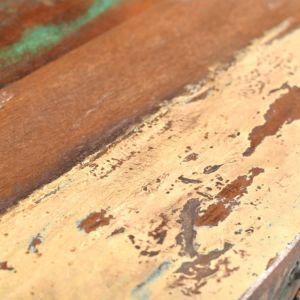 Konsolinis staliukas su 3 stalčiais, perdirbta mediena