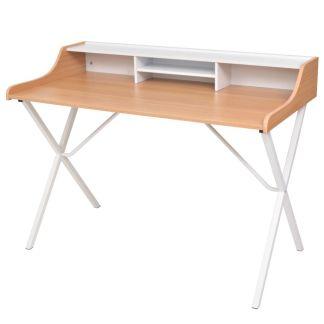 Darbo, kompiuterio stalas, natūralios medienos spalvos