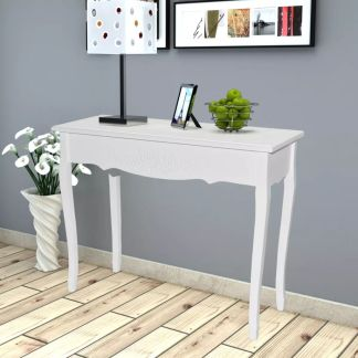 vidaXL Kosmetinis konsolinis staliukas, baltas