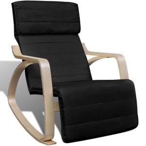 vidaXL Supamoji kėdė, lenktos med. rėmas, audinys, reg., juoda