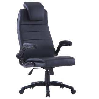 Juoda Dirbtinės Odos Biuro Kėdė, Sukamoji, Reguliuojama