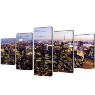 """Fotopaveikslas """"Niujorkas iš Paukščio Skrydžio"""" ant Drobės 100 x 50 cm"""