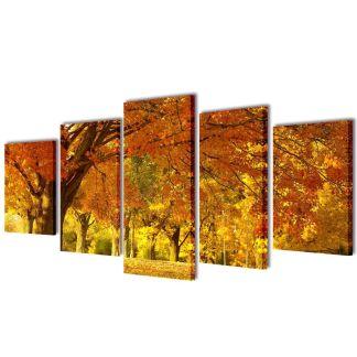 """Fotopaveikslas """"Klevas"""" ant Drobės 100 x 50 cm"""