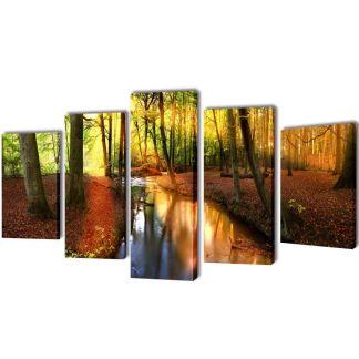 """Fotopaveikslas """"Miškas"""" ant Drobės 100 x 50 cm"""