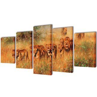 "Fotopaveikslas ""Liūtai"" ant Drobės 200 x 100 cm"