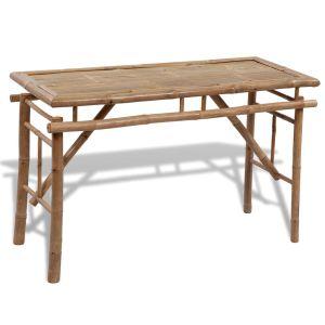Alaus stalas su 2 suoliukais, 100cm, bambuko mediena