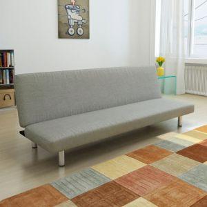 vidaXL Sofa-lova, pilka, poliesteris