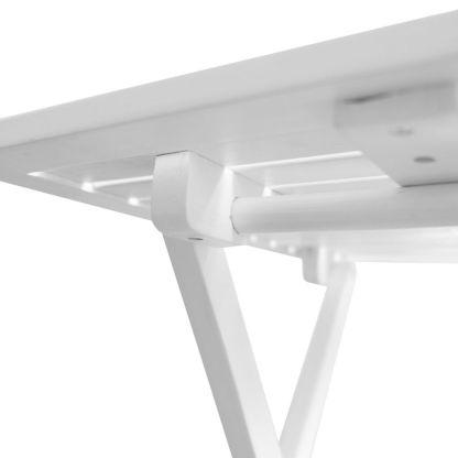 Lauko kavos staliukas iš akacijos medienos, baltas