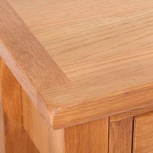 Konsolinis stal. su 2 stalčiais, 83x30x73cm, ąžuolo med. mas.