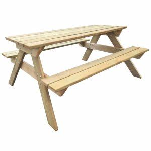 vidaXL Iškylų stalas, 150x135x71,5 cm, FSC mediena