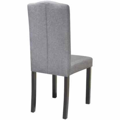 Valgomojo kėdės, 6vnt., šviesiai pilkos spalvos, audinys
