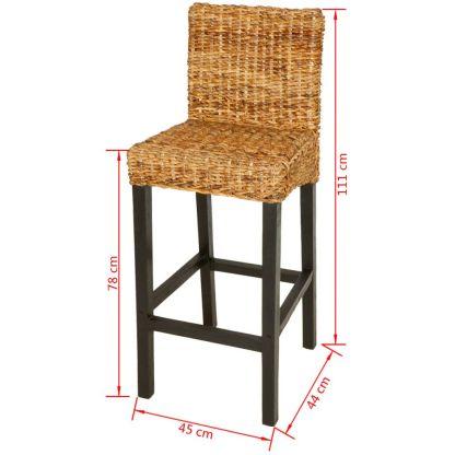 2 baro kėdės, abaka, rudos