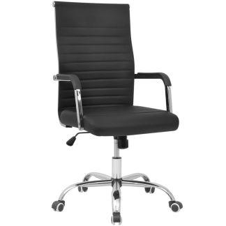 vidaXL Biuro Kėdė, Dirbtinė Oda, 55 x 63 cm, Juoda