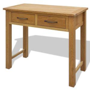 Kosmetinis staliukas su kėdute, ąžuolo medienos masyvas