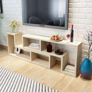vidaXL TV staliukas, 2 dalių, L formos, ąžuolo spalvos