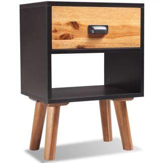vidaXL naktinis staliukas, akacijos mediena, 40x30x58 cm
