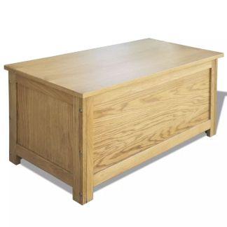 vidaXL Daiktadėžė, 90x45x45cm, ąžuolo medienos masyvas
