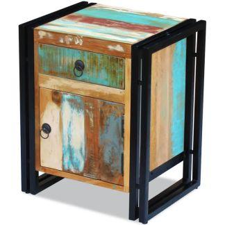 vidaXL Perdirbtos medienos naktinis staliukas