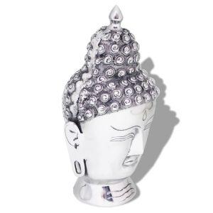 Budos galvos dekoracija, aliuminis, sidabro spalvos