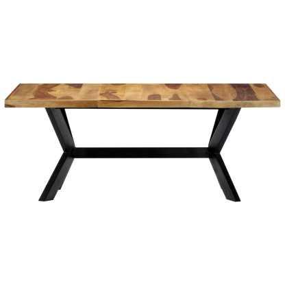 Valgomojo stalas, 180x90x75cm, rausv. dalberg. medienos masyvas