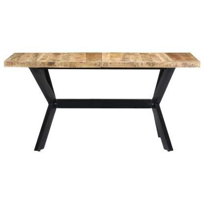Valgomojo stalas, 140x70x75cm, neapdorotas mango med. masyvas