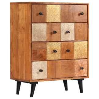 vidaXL Komoda su stalčiais, 60x30x75cm, akacijos medienos masyvas